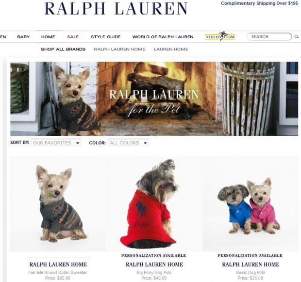 ComeWagAlong.com - Fashion Friday - Ralph Lauren For The Pet