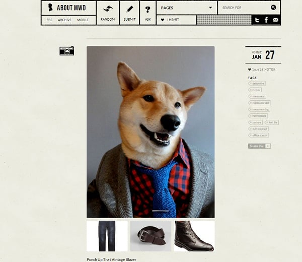 Menswear Dog tumblr