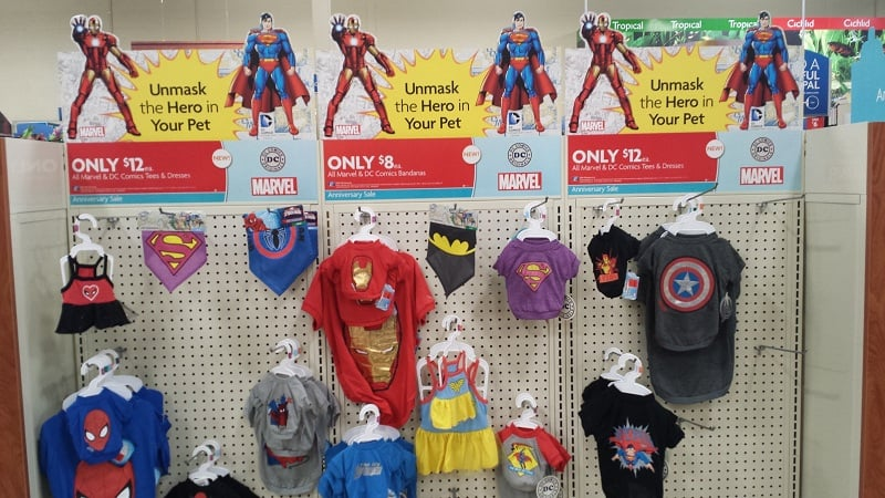 PetSmart Marvel and DC Comics Tees and Dresses