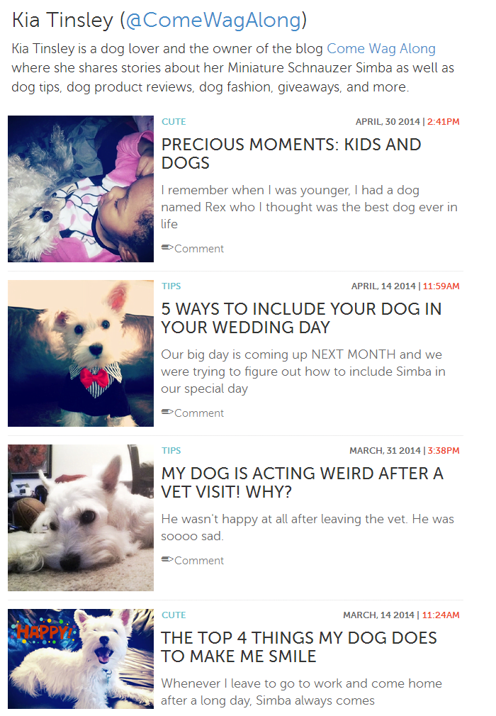 3milliondogs.com Kia Tinsley
