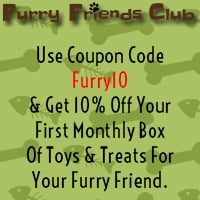 Use coupon code Furry10 & Get 10% off your first monthly box of toys & treats for your furry friend