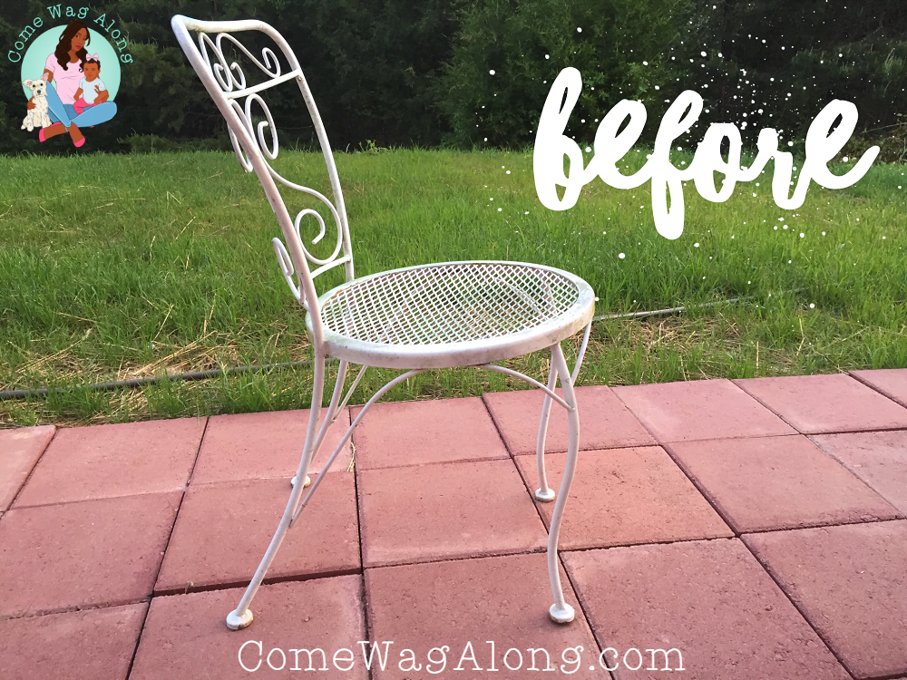 DIY Painted Outdoor Patio Furniture e Wag Along