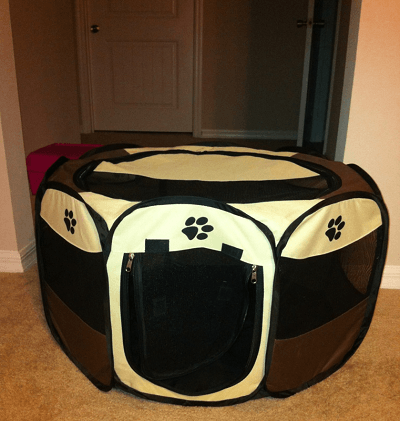 Portable pet playpen. Folding dog playpen.