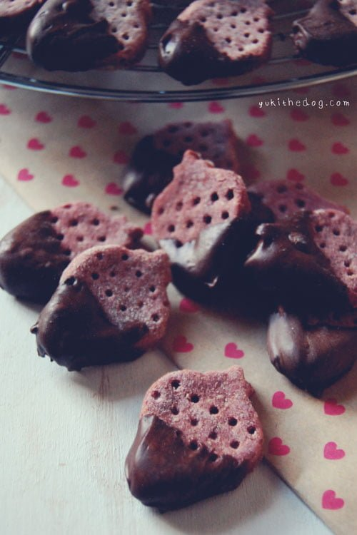 strawberry dog treats