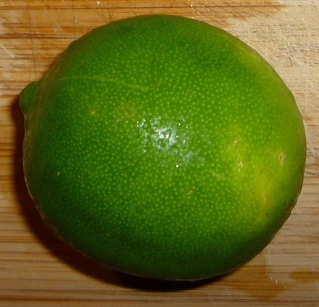 Baby size of lime