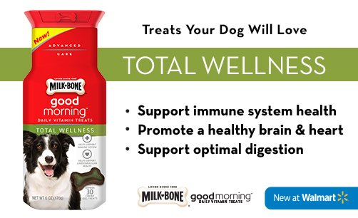 Milk-Bone Good Morning Total Wellness - ComeWagAlong.com