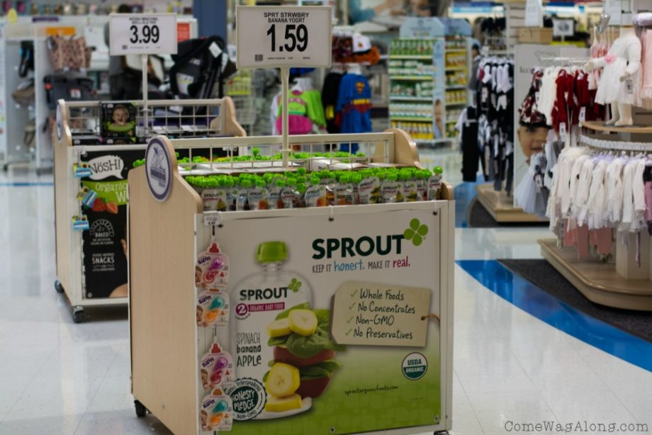 Sprout pouches at Babies R Us