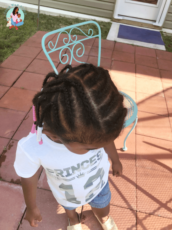 braids and beads - natural hairstyles for toddlers