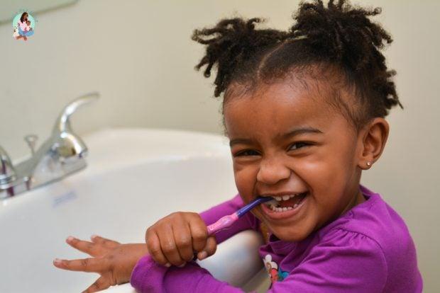 Toddler Brushing Teeth - Developing Independence