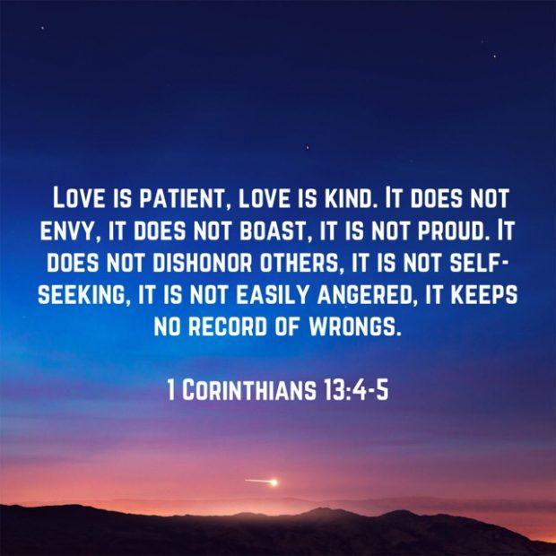 Love is Patient - 1 Corinthians 13:4-5