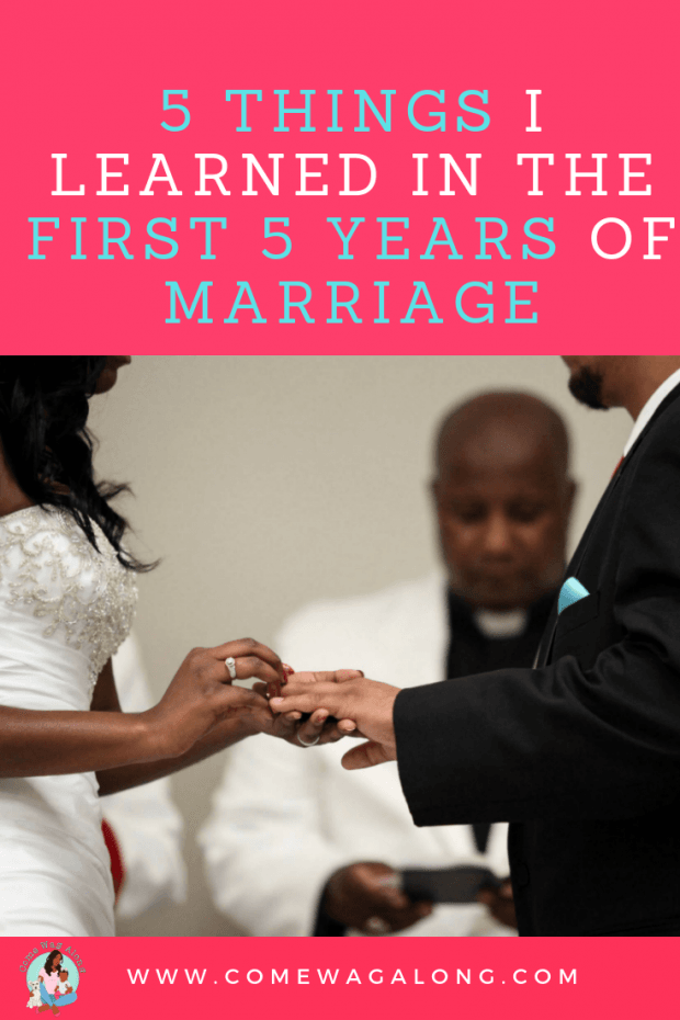 5 Things I Learned in the First 5 Years of Marriage