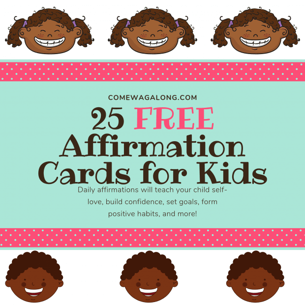 25 Free Affirmation Cards for Kids