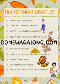 fall bucketlist printable