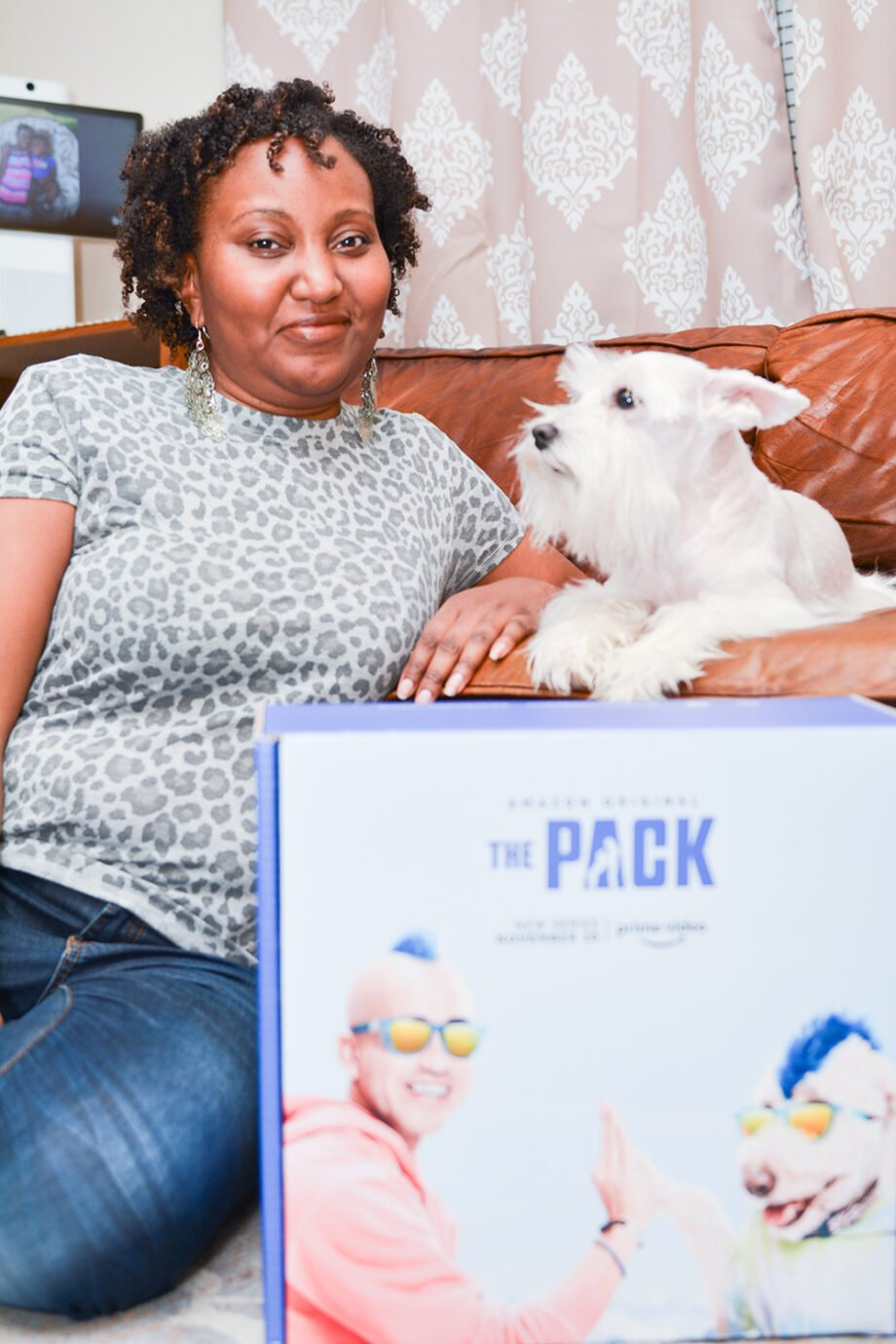 Dog mom and Dog Excited for The Pack Amazon Prime Video